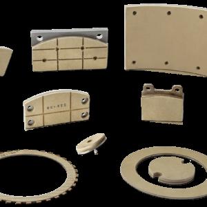 Friktionsmaterial för industribromsar Braketex och Clutchtex